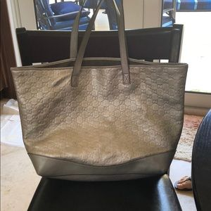 Metallic Gucci bag